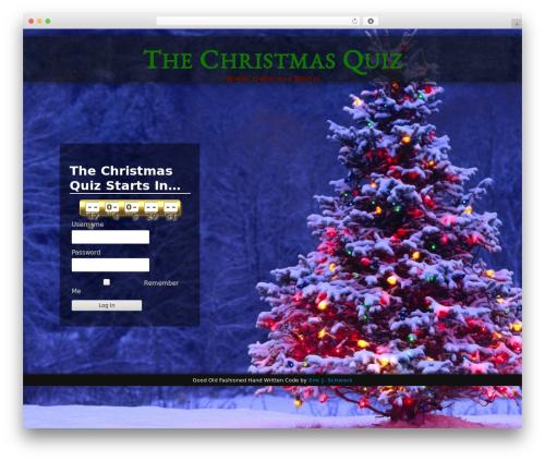 WordPress theme Adventure - thechristmasquiz.com