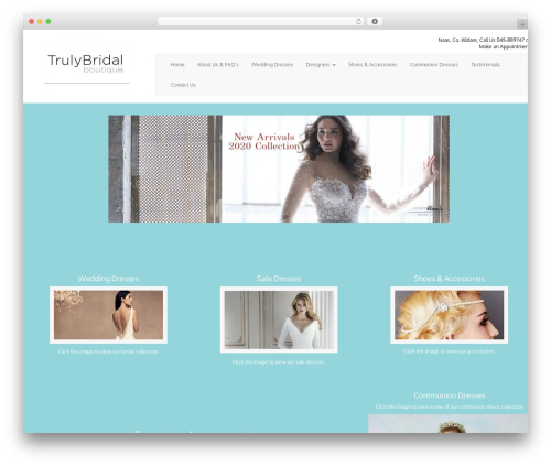 WordPress theme Truly Bridal - trulybridalboutique.ie