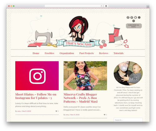 WordPress website template Jasmine - Premium - thatssewamy.com