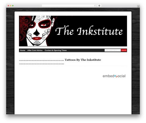 WP-DaVinci theme WordPress - theinkstitute.co.uk