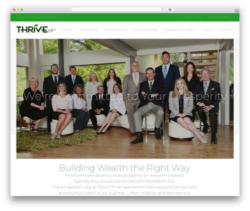 WP theme Avada - thrivefp.com