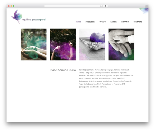 Averly WordPress page template - equilibriopsicocorporal.com