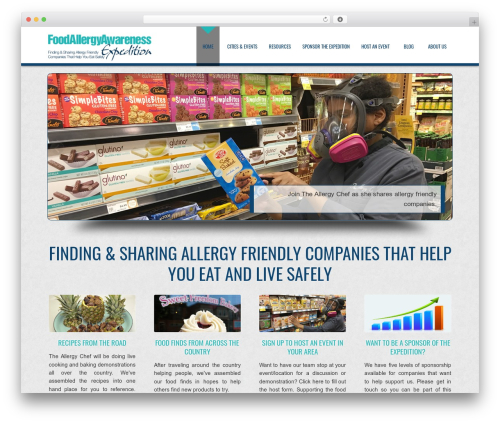 D5 Business Line Extend company WordPress theme - allergyexpedition.com