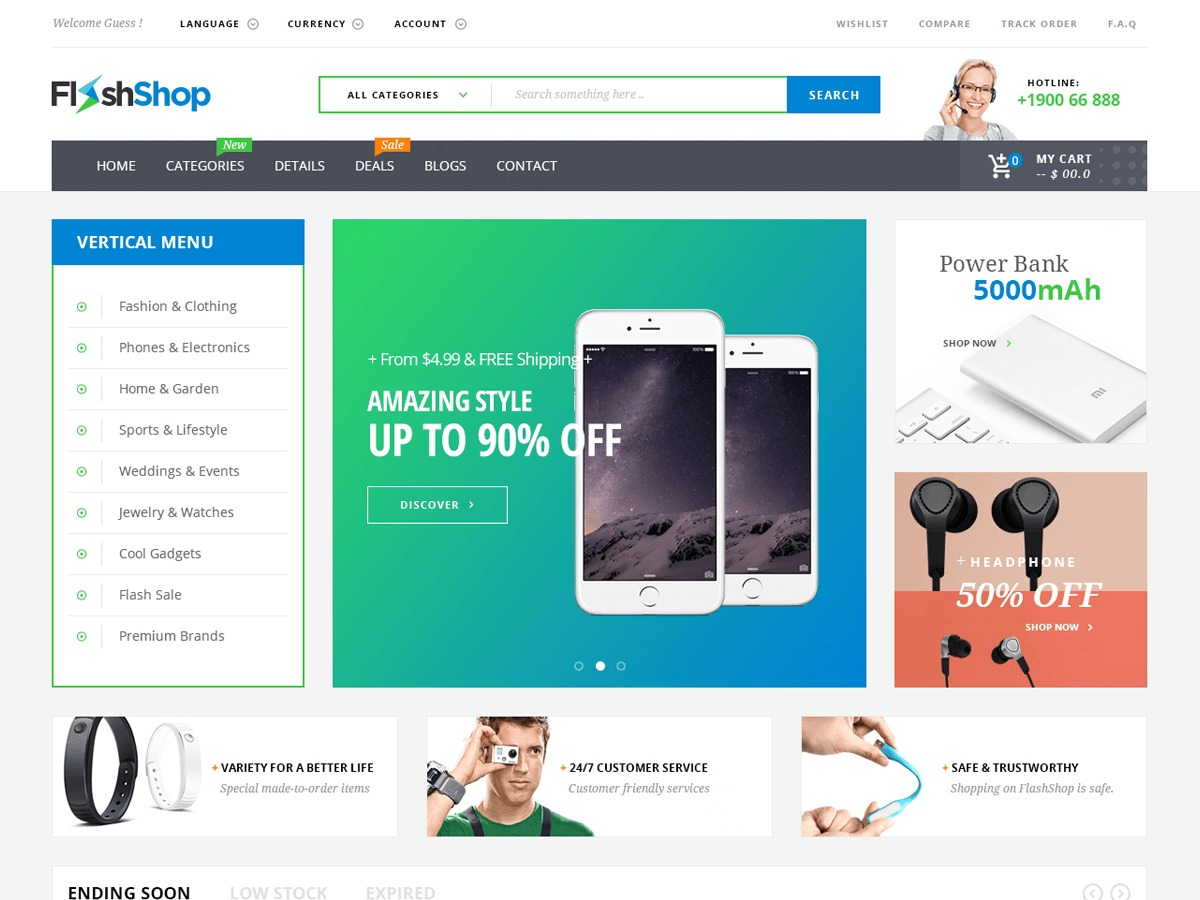 Flashshop WordPress shop theme