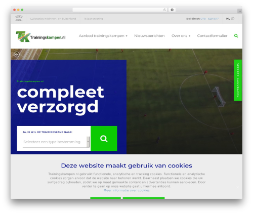 Oncourse WordPress theme - trainingskampen.nl