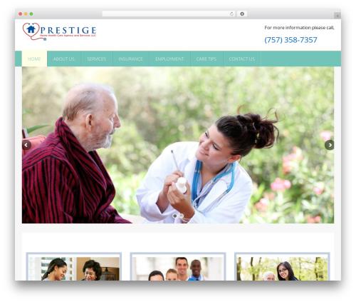 Responsive WordPress theme - prestigehhca.com