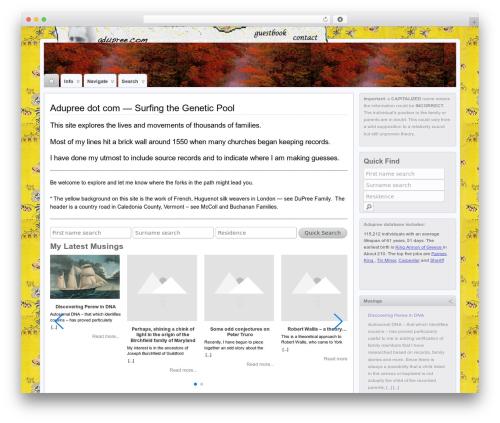 Suffu-scion WordPress theme - adupree.com
