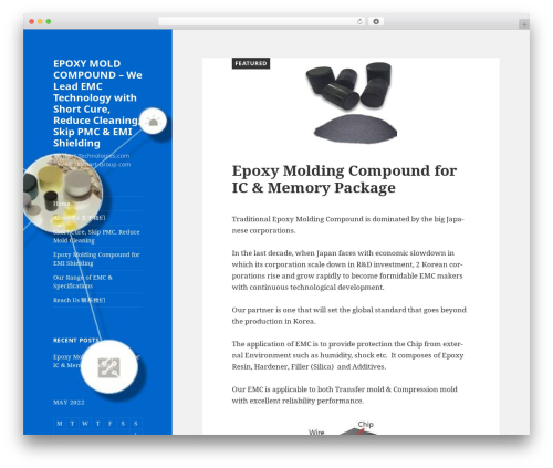 Twenty Fifteen WordPress template free - epoxymoldingcompound.com