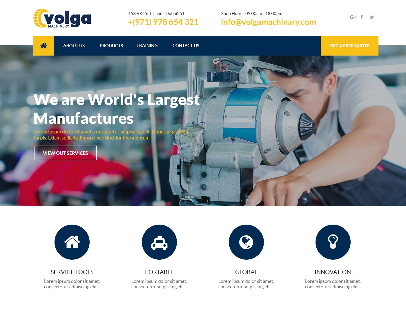 Volgo Theme premium WordPress theme