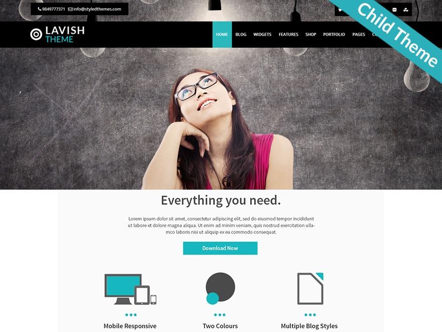 Lavish Pro Child WordPress blog theme