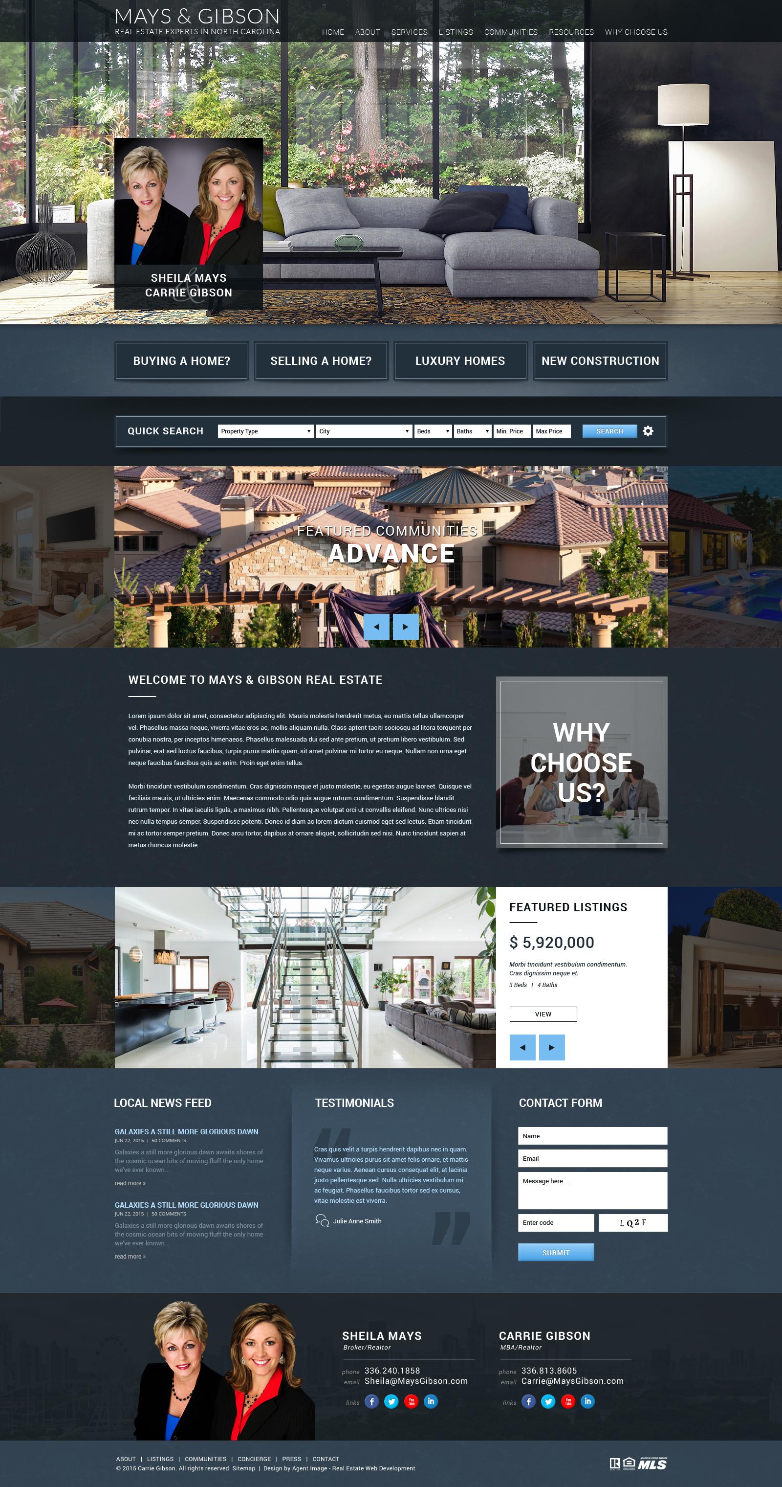 Template WordPress MAYS & GIBSON