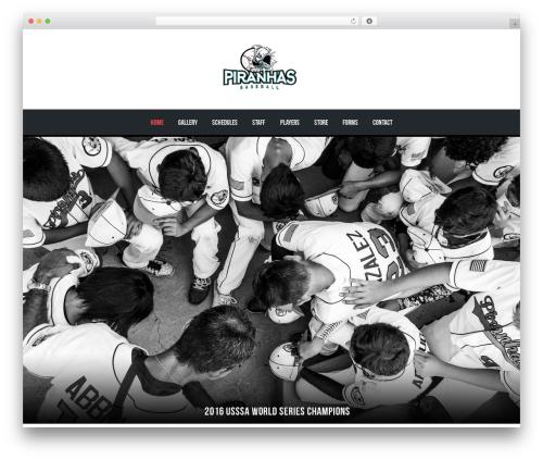 WordPress theme AllStar - piranhasbaseball.com