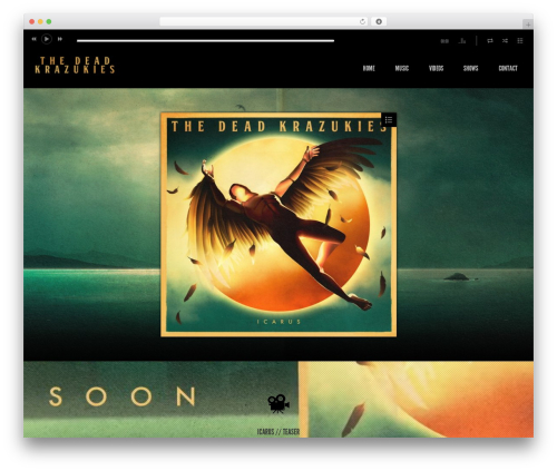 Album WordPress theme - thedeadkrazukies.com