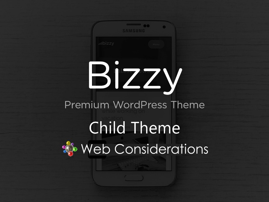 bizzy child theme WordPress template for business