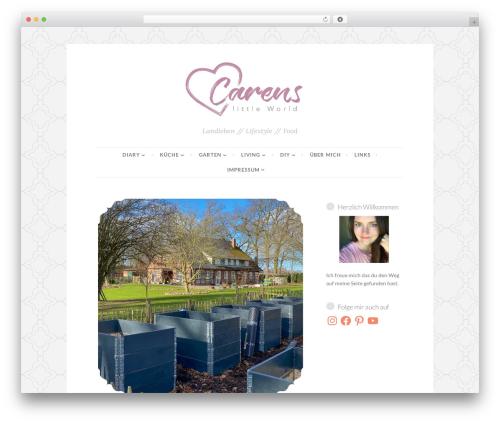 Button 2 food WordPress theme - carenslittleworld.com