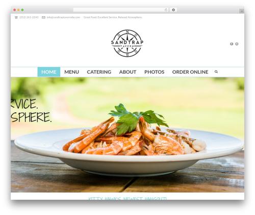 jupiter premium WordPress theme - sandtraptavern.com