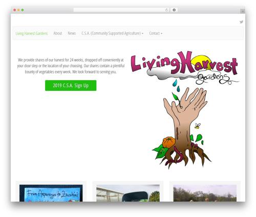 Lightning Monkey WordPress template free - livingharvestgardens.com