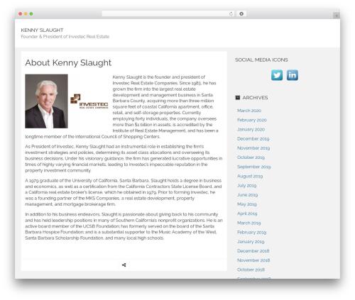 Rational Start WordPress template free - kennyslaughtnews.com