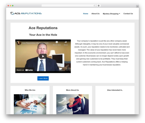 Responsive template WordPress free - acereputation-satx.com