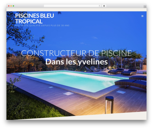 Theme WordPress Prima - piscine-bleutropical.com