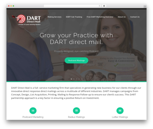 WordPress theme bizzy child theme - dartdirectmail.com