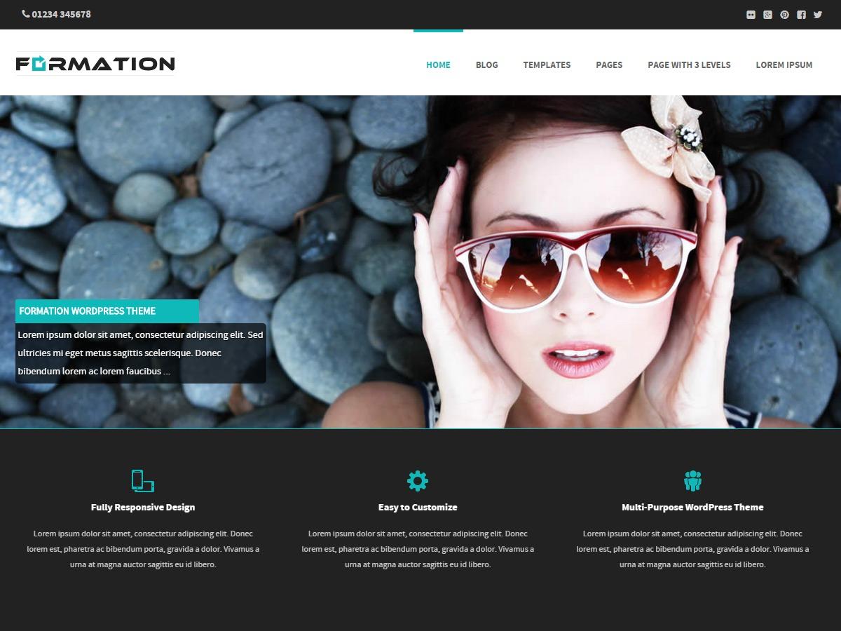 Best WordPress template Formation
