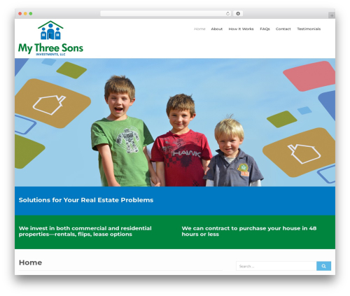 Best WordPress theme Flat Responsive Child - m3sinvest.com