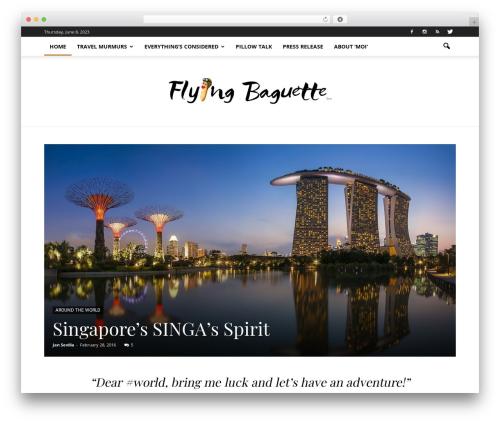 Newspaper WordPress blog template - flyingbaguette.com