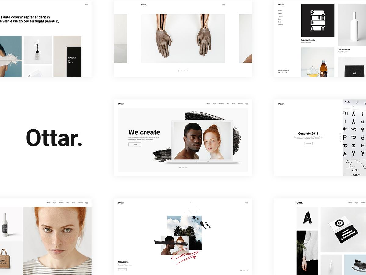 Ottar WordPress portfolio template