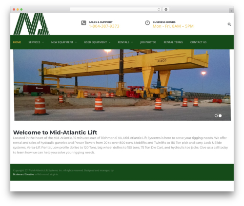 TheBuilt theme WordPress - midatlanticlift.com
