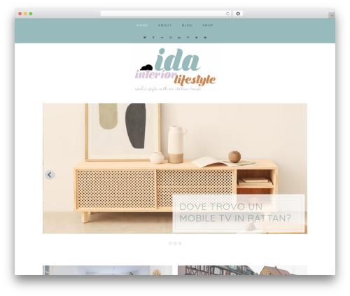 WordPress template ida - idainteriorlifestyle.com