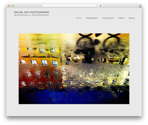 WordPress theme SolarWind - michel-roy-photographe.com