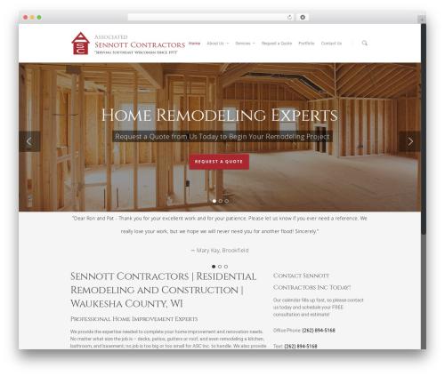 WordPress website template Salient - asscsennottcontractors.com