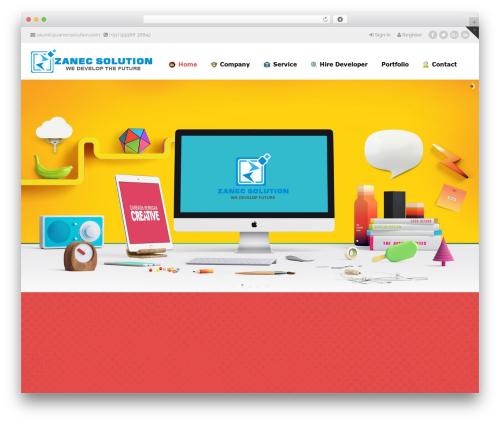 Best WordPress theme Aaika (shared on wplocker.com) - zanecsolution.com
