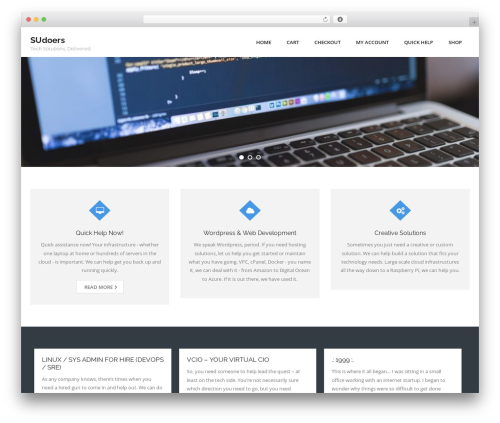 Consulting free WP theme - sudoers.com