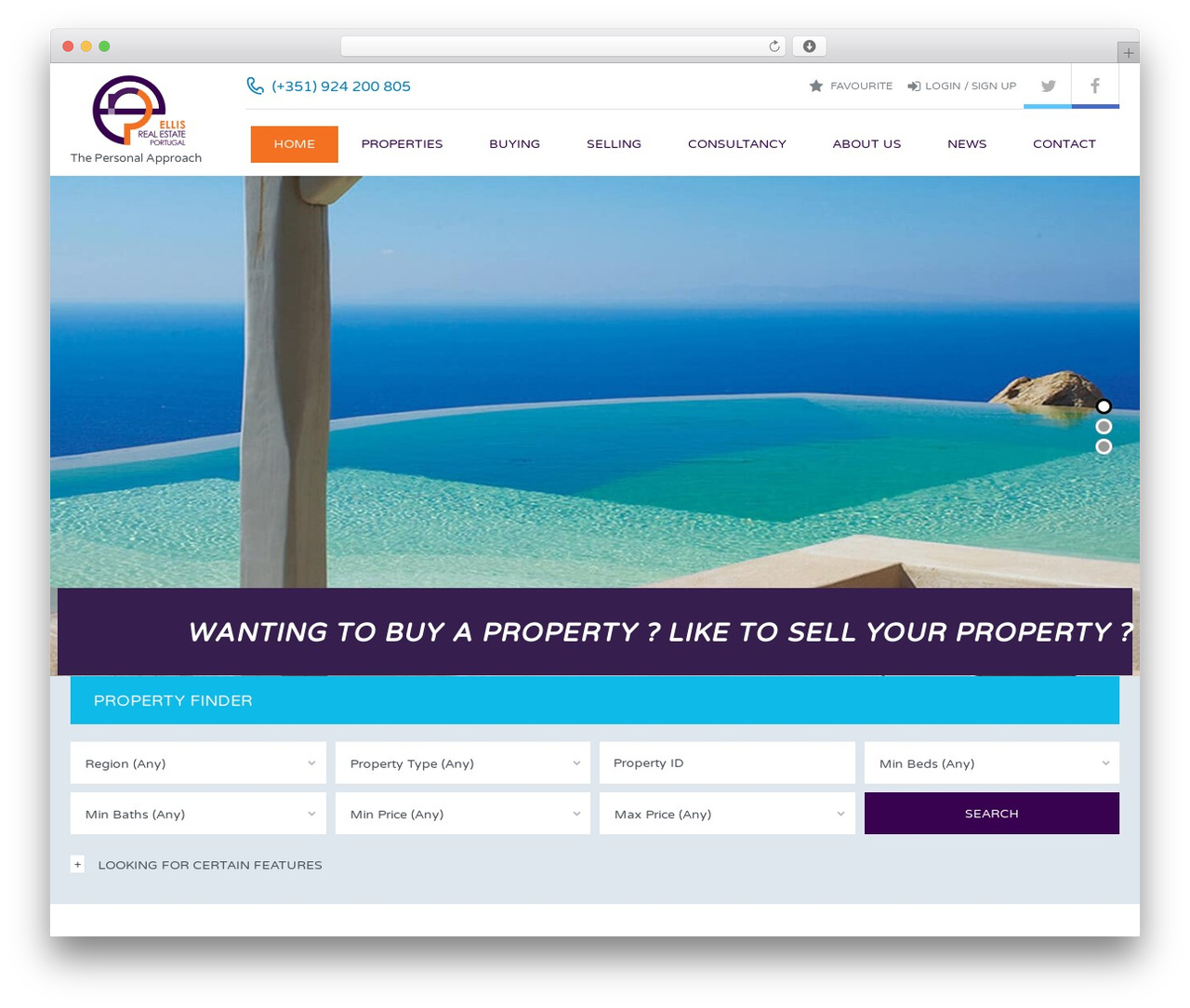 ellis-real-estate real estate WordPress theme - ellisrealestateportugal.com