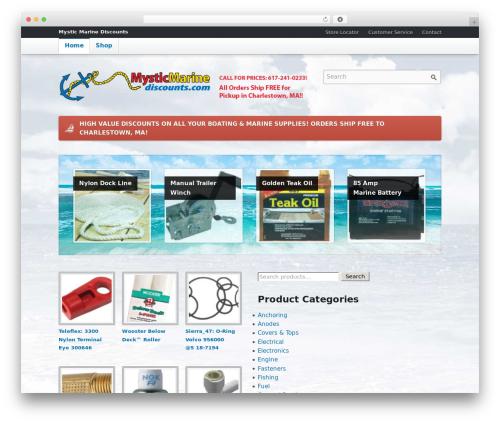 Emporium WordPress website template - mysticmarinediscounts.com