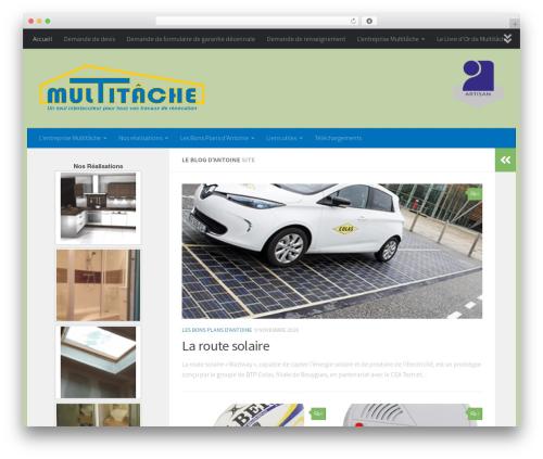 Hueman best WordPress theme - multitache.com
