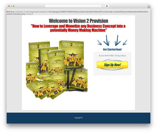 OptimizePress WordPress template for business - vision2provision.com