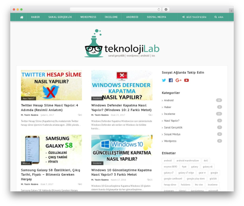 WordPress template Codilight - teknolojilab.com