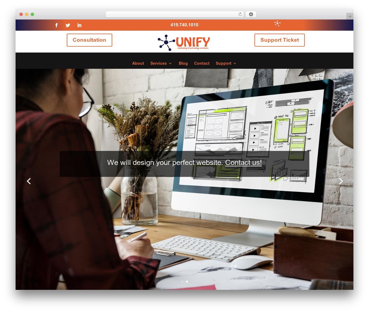Divi premium WordPress theme - unifymts.com
