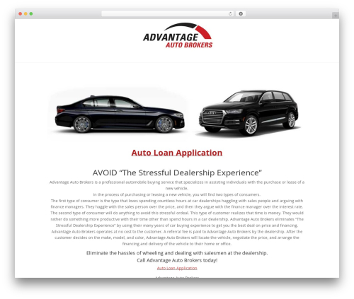 Divi WordPress theme - advantageautobrokers.com