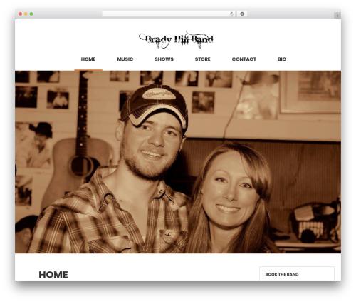 shopstudio WordPress ecommerce template - bradyhillband.com