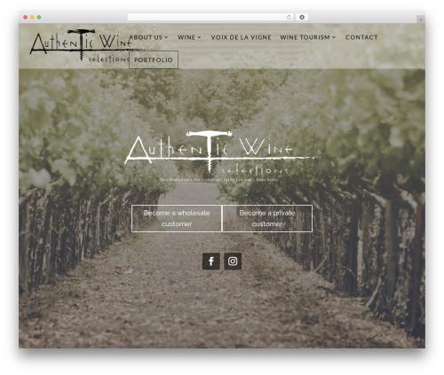 WordPress theme Divi - authenticws.com