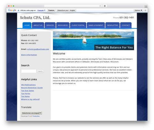WP template Customized - schutzcpa.com