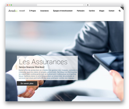 Avada theme WordPress - groupefinancierrivenord.com