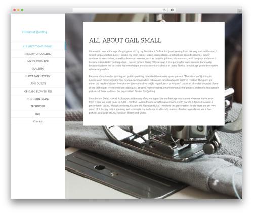 Avada WordPress theme - historyofquilting.com