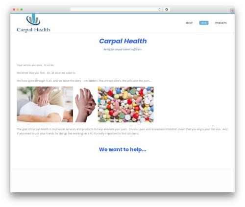 Conica template WordPress free - carpalhealth.com