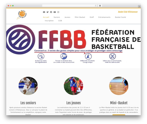 Customizr free WordPress theme - basketclubvilletaneuse.com