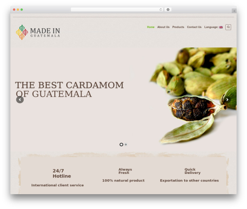 Organic Web Shop WordPress shopping theme - madeingt.com